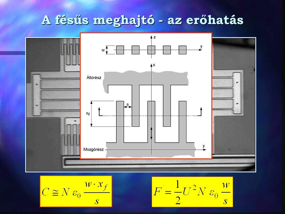 A fésűs meghajtó - példa A 2.poli vastagsága w = 2  m.