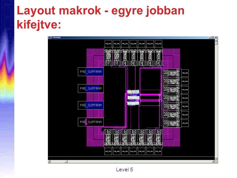 Layout makrok - egyre jobban kifejtve: Level 5