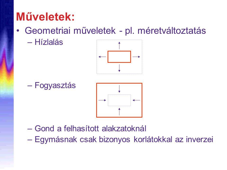 Geometriai műveletek - pl.