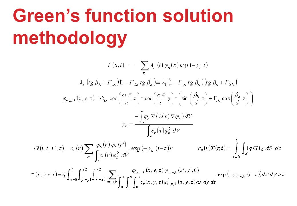 Green's function solution methodology