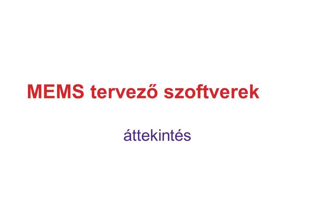 MEMS tervező szoftverek áttekintés