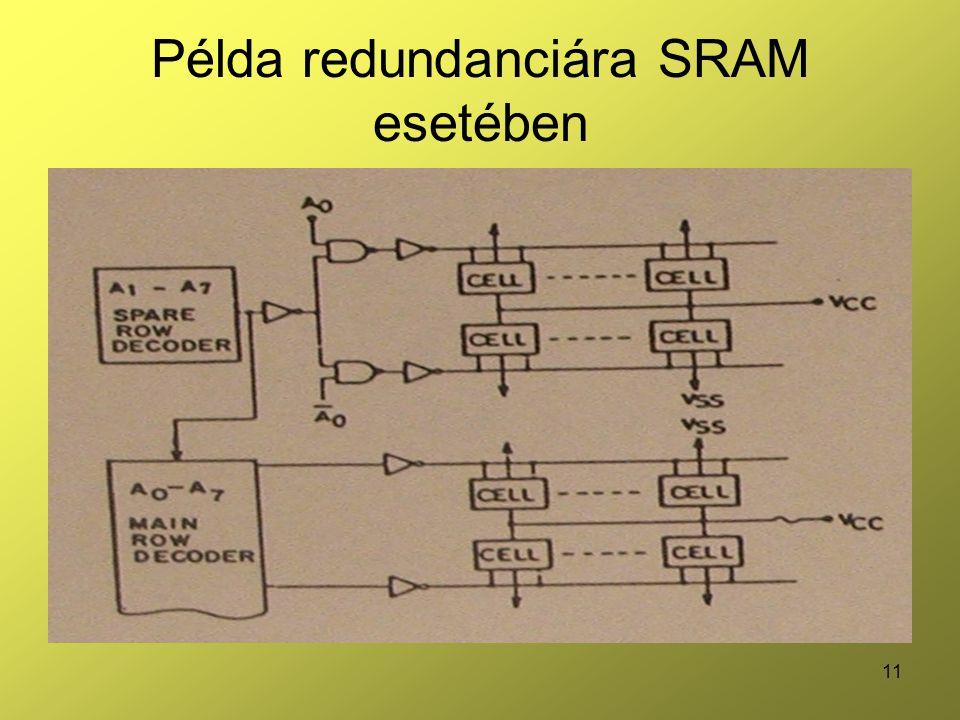 11 Példa redundanciára SRAM esetében