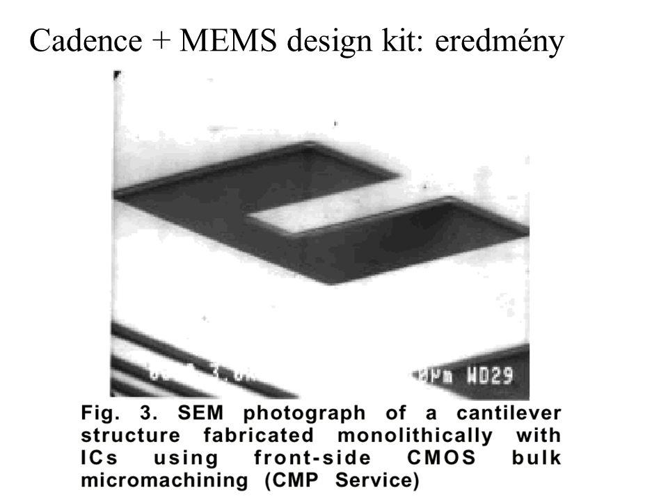 Cadence + MEMS design kit: eredmény