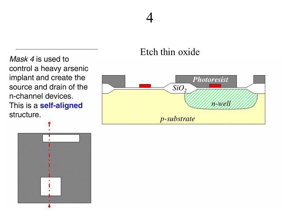 4 Etch thin oxide