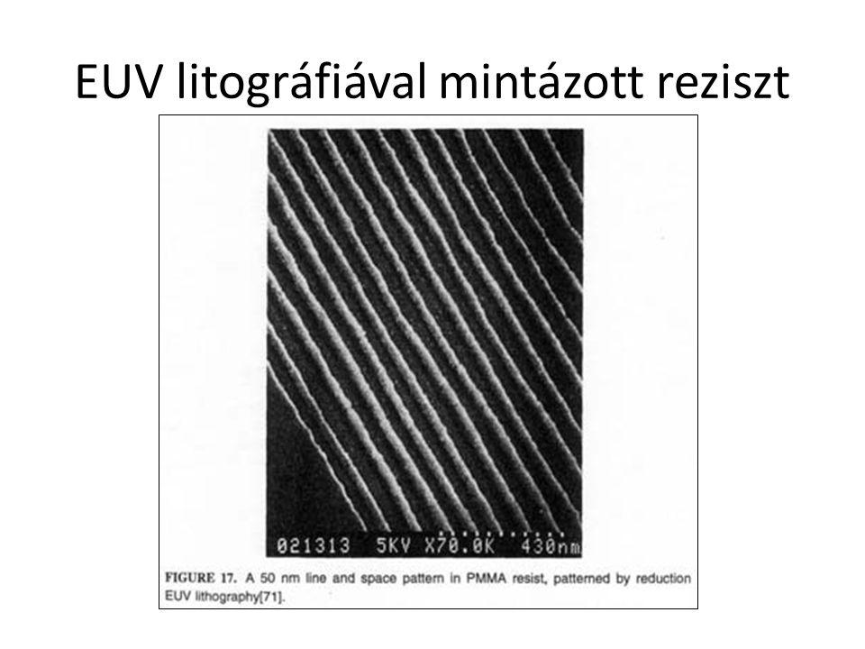 EUV litográfiával mintázott reziszt