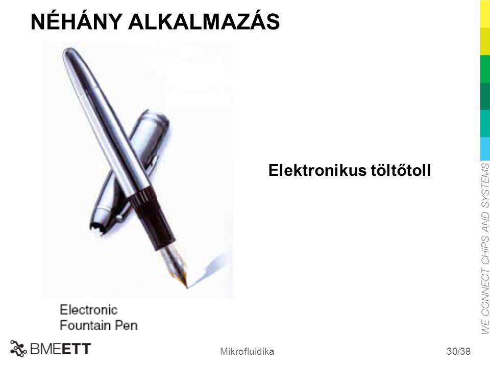 /38 Mikrofluidika 30 Elektronikus töltőtoll NÉHÁNY ALKALMAZÁS