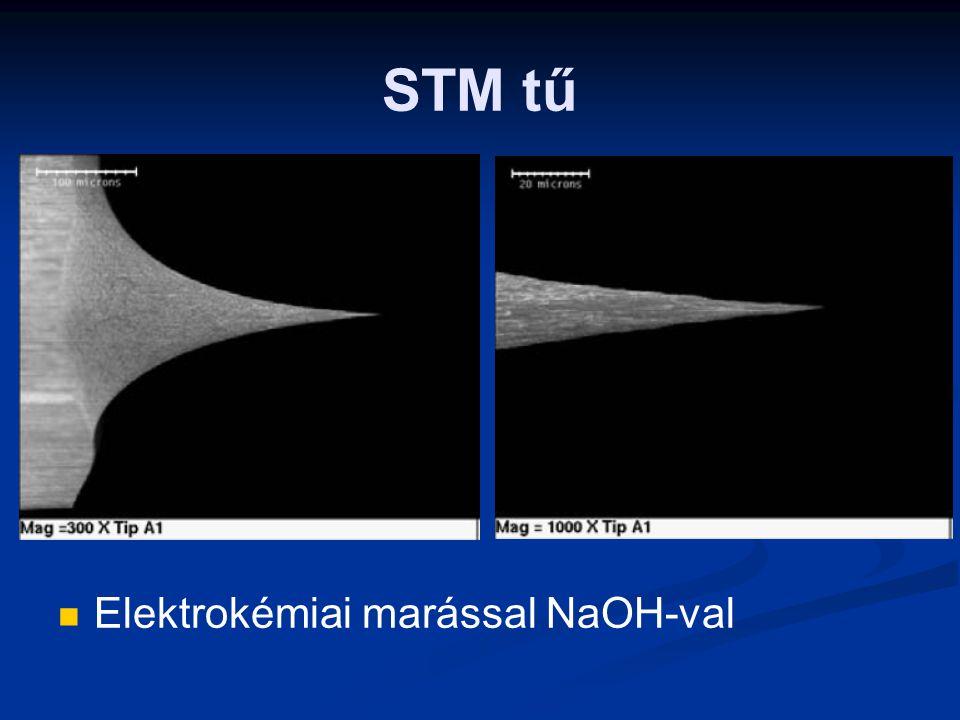 STM tű Elektrokémiai marással NaOH-val