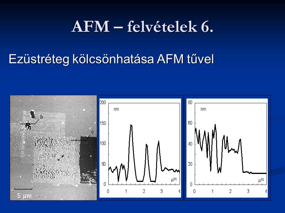AFM – felvételek 6. Ezüstréteg kölcsönhatása AFM tűvel