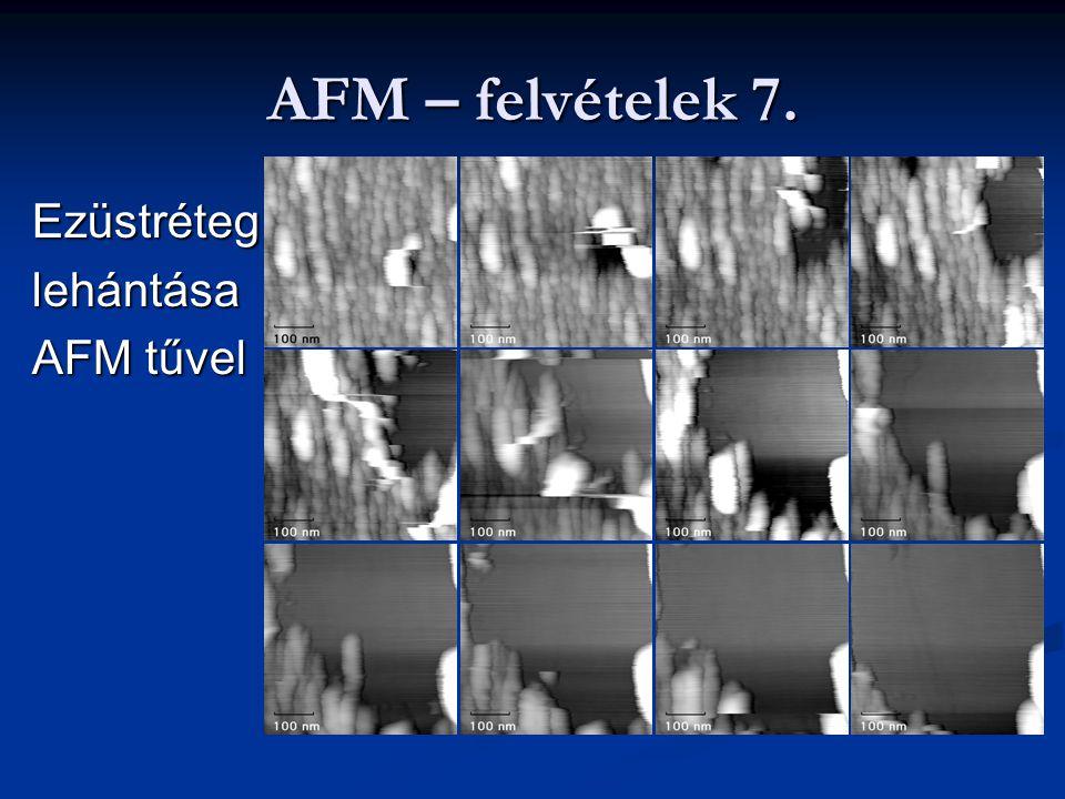 AFM – felvételek 7. Ezüstréteglehántása AFM tűvel