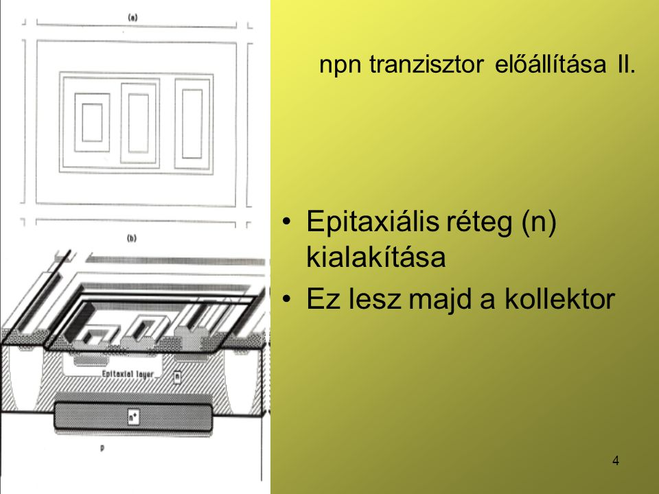 5 npn tranzisztor előállítása III.