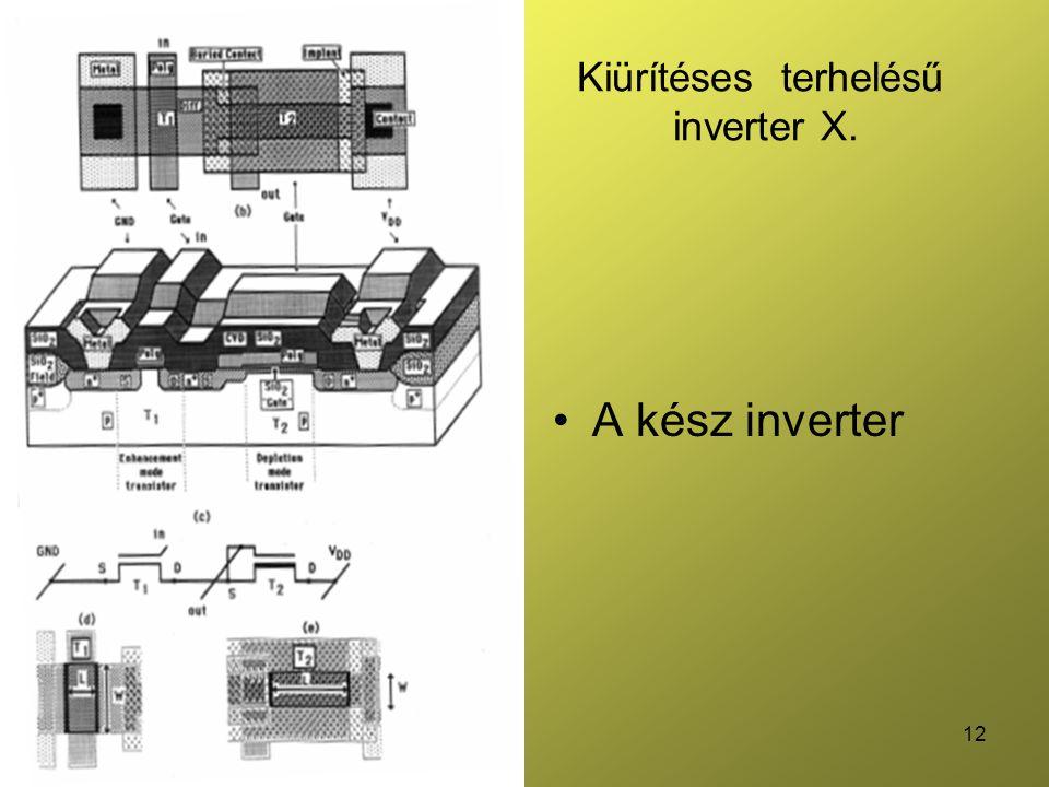 12 Kiürítéses terhelésű inverter X. A kész inverter