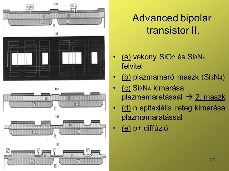 21 Advanced bipolar transistor II.