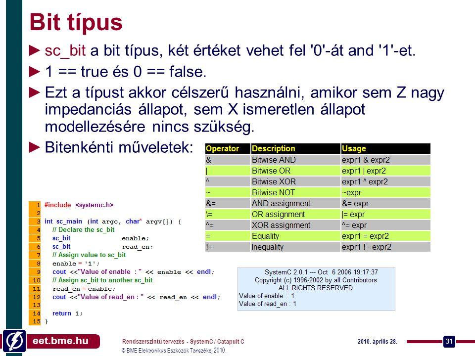eet.bme.hu © BME Elektronikus Eszközök Tanszéke, 2010.