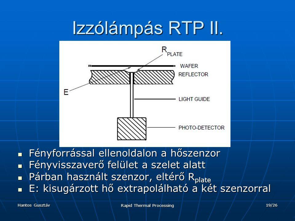 Hantos Gusztáv Rapid Thermal Processing 19/26 Izzólámpás RTP II.