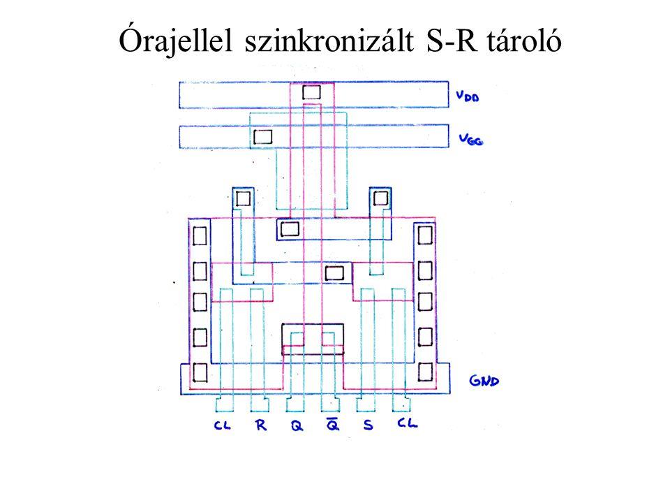 Órajellel szinkronizált S-R tároló