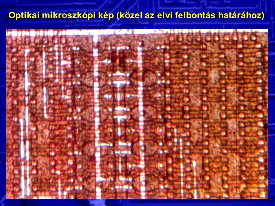 Optikai mikroszkópi kép (közel az elvi felbontás határához)