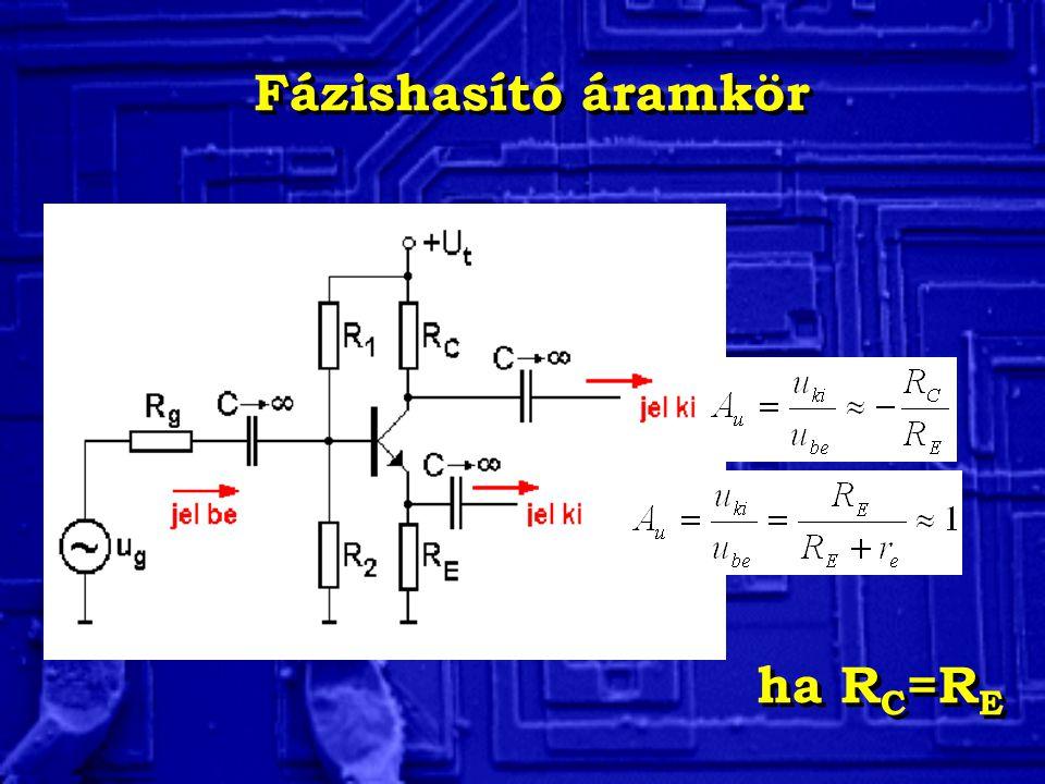 Fázishasító áramkör ha R C =R E