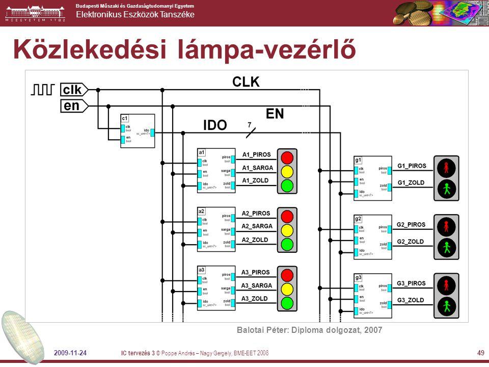 Budapesti Műszaki és Gazdaságtudomanyi Egyetem Elektronikus Eszközök Tanszéke 2009-11-24 IC tervezés 3 © Poppe András – Nagy Gergely, BME-EET 2008 49