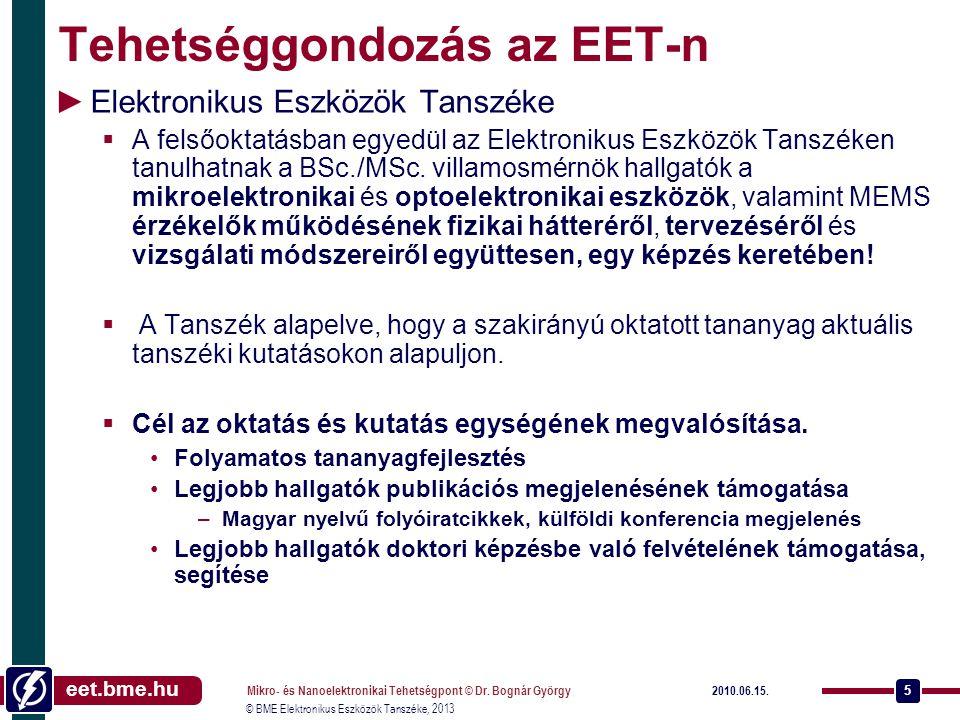 eet.bme.hu © BME Elektronikus Eszközök Tanszéke, 2013 2013.