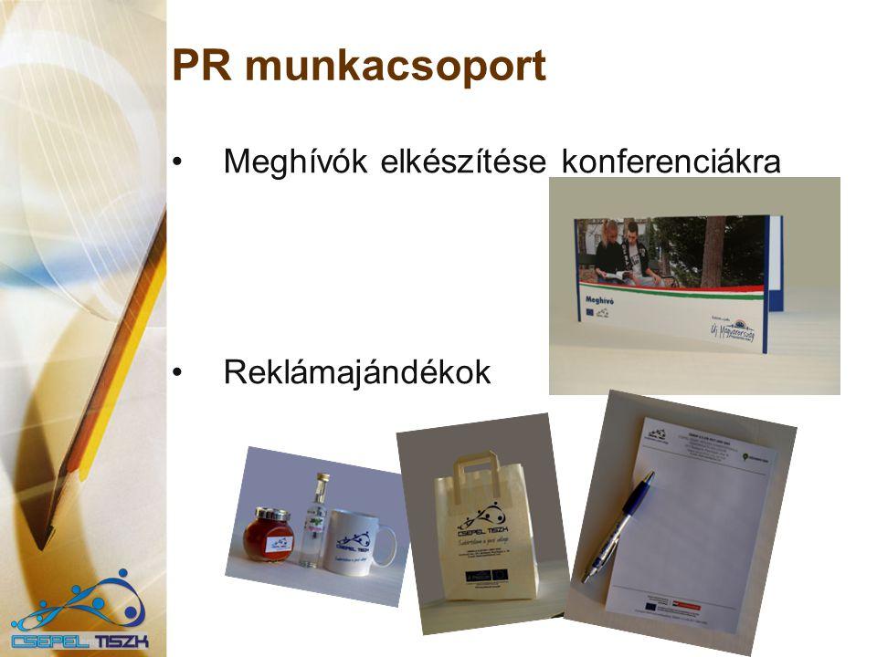 PR munkacsoport Meghívók elkészítése konferenciákra Reklámajándékok