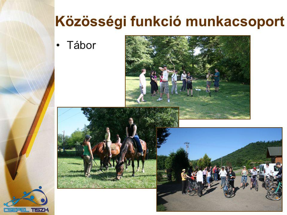 Közösségi funkció munkacsoport Tábor