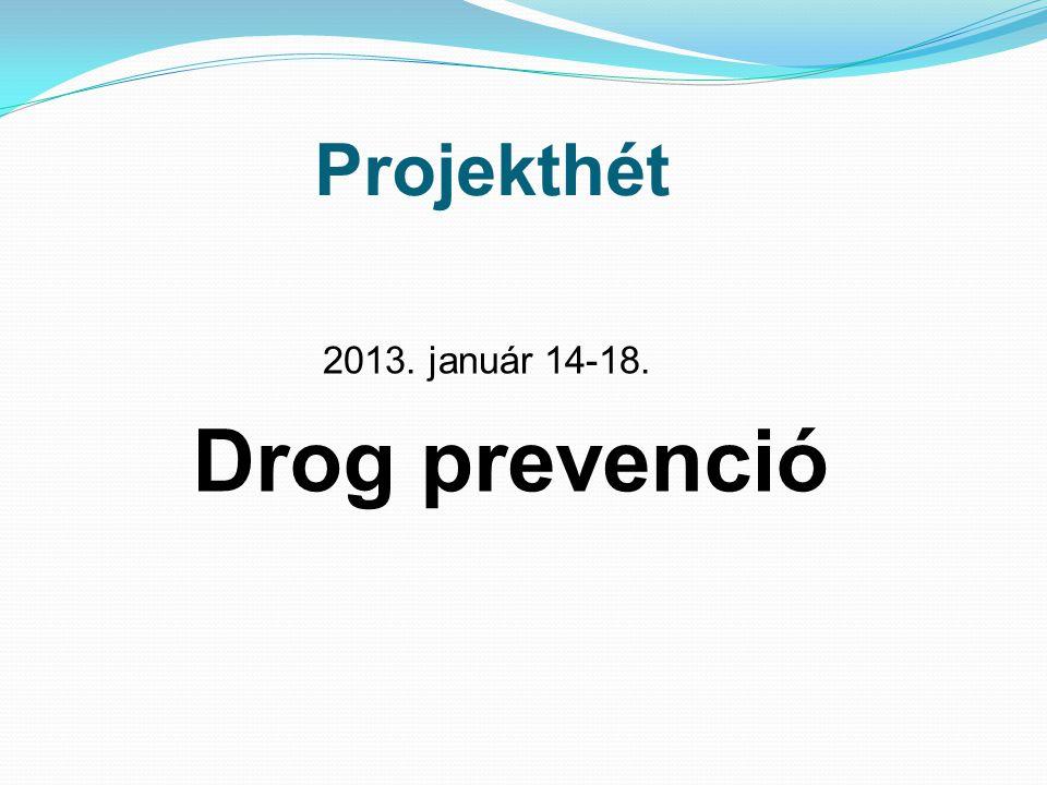 Projekthét 2013. január 14-18. Drog prevenció