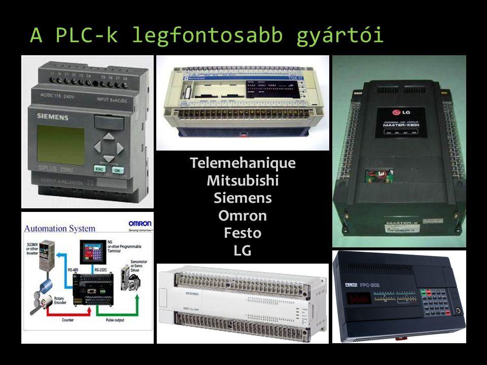 A PLC-k legfontosabb gyártói Telemehanique Mitsubishi Siemens Omron Festo LG