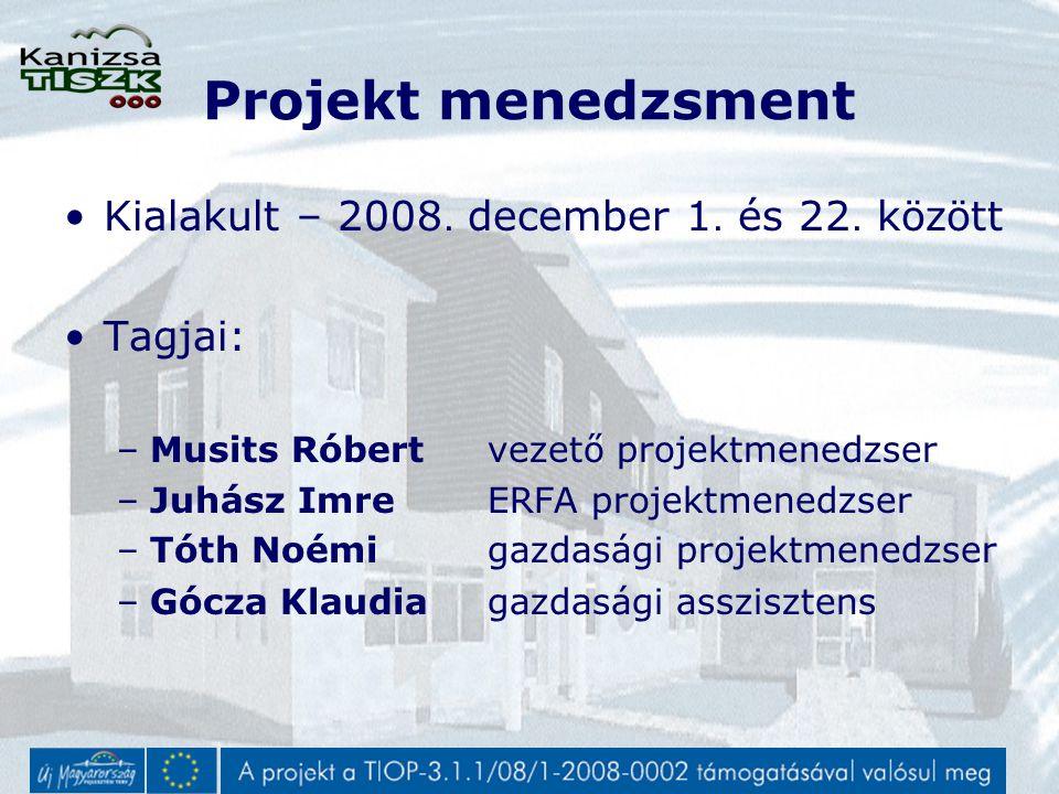 Projekt menedzsment Kialakult – 2008. december 1.