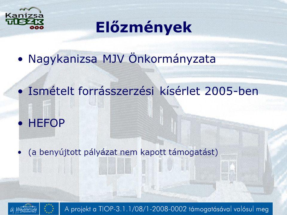 Előzmények 2008 év elején TÁMOP nyert Lehetőség nyílt a TIOP keretein belül infrastruktúra és eszköz beszerzésekre