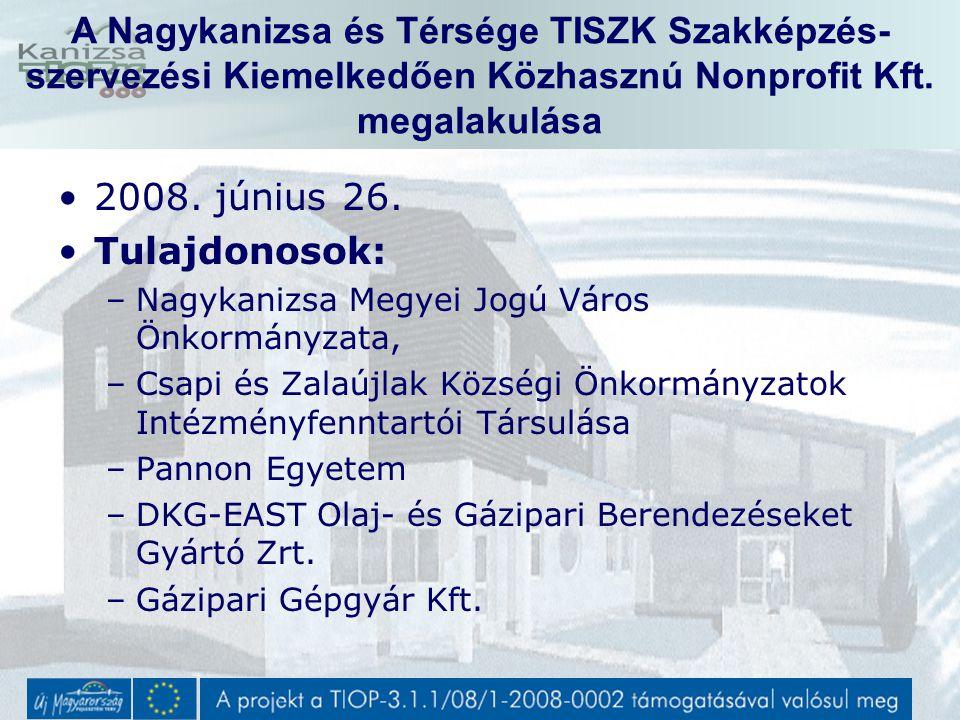 Közbeszerzési terv tartalma (nagyobb beszerzések) TISZK Központi Képzőhely eszköz beszerzés –Várható megjelenés 2009.