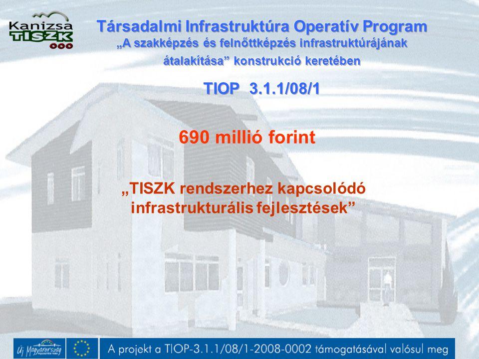 """""""TISZK rendszerhez kapcsolódó infrastrukturális fejlesztések"""" 690 millió forint"""