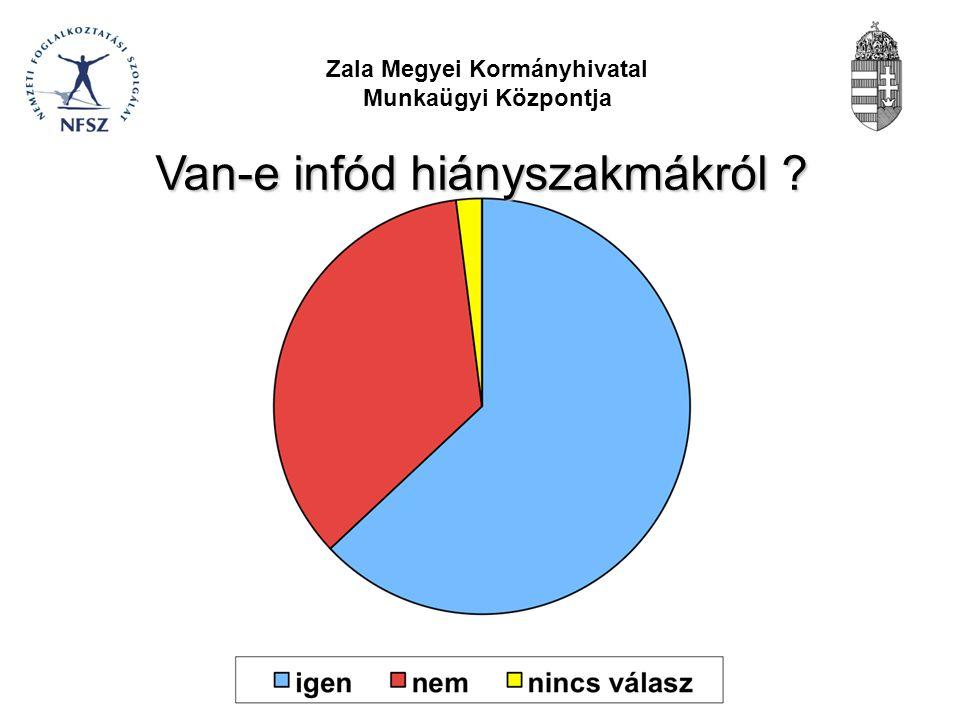 Zala Megyei Kormányhivatal Munkaügyi Központja Sorolj fel hiányszakmákat ?