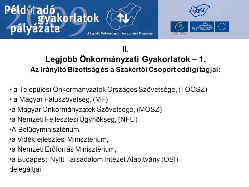 II.Legjobb Önkormányzati Gyakorlatok – 2. 2009.