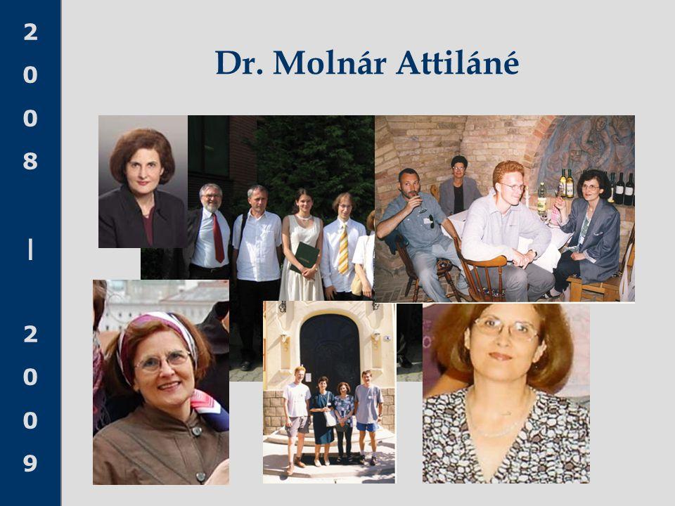 2008 20092008 2009 Dr. Molnár Attiláné