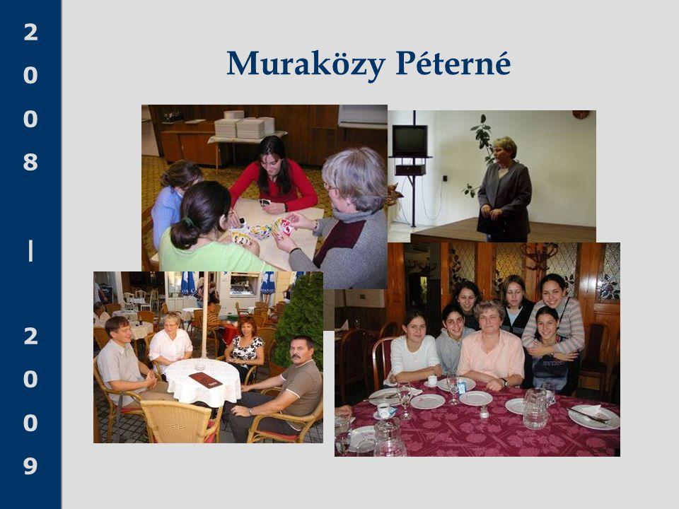 2008 20092008 2009 Muraközy Péterné
