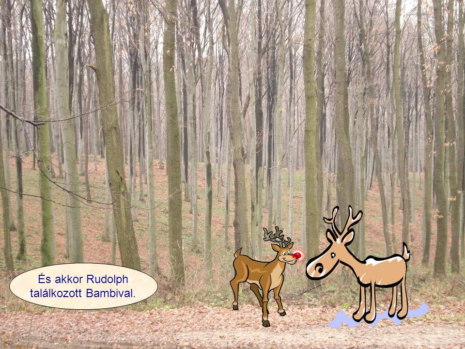 És akkor Rudolph találkozott Bambival.
