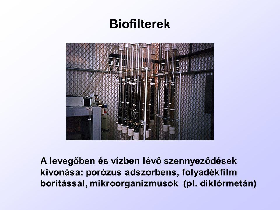 1./ Rövid szénláncú, halogénezett alifás származékok (RHALF) (széntetraklorid, diklór-metán, triklór-etilén, halon)  műanyaggyártás, vízhatlanító anyagok, oldószerek, textiltisztítók, fémfeldolgozó ipar  teljesen halogénezett metánszármazékok: halonok (tűzoltás) a./ Az egész légkörben eloszlanak, hosszú élettartam.