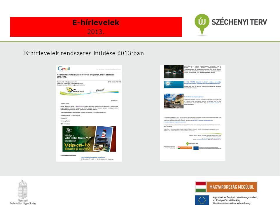 E-hírlevelek rendszeres küldése 2013-ban E-hírlevelek 2013.