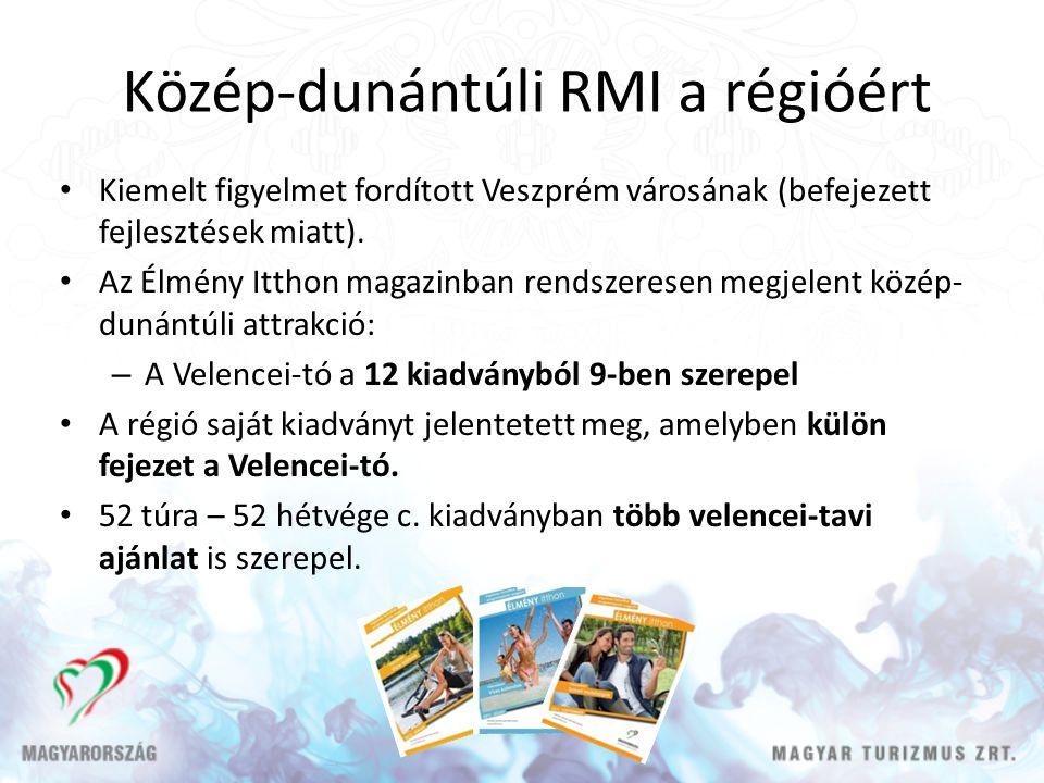 Közép-dunántúli RMI a régióért Kiemelt figyelmet fordított Veszprém városának (befejezett fejlesztések miatt). Az Élmény Itthon magazinban rendszerese