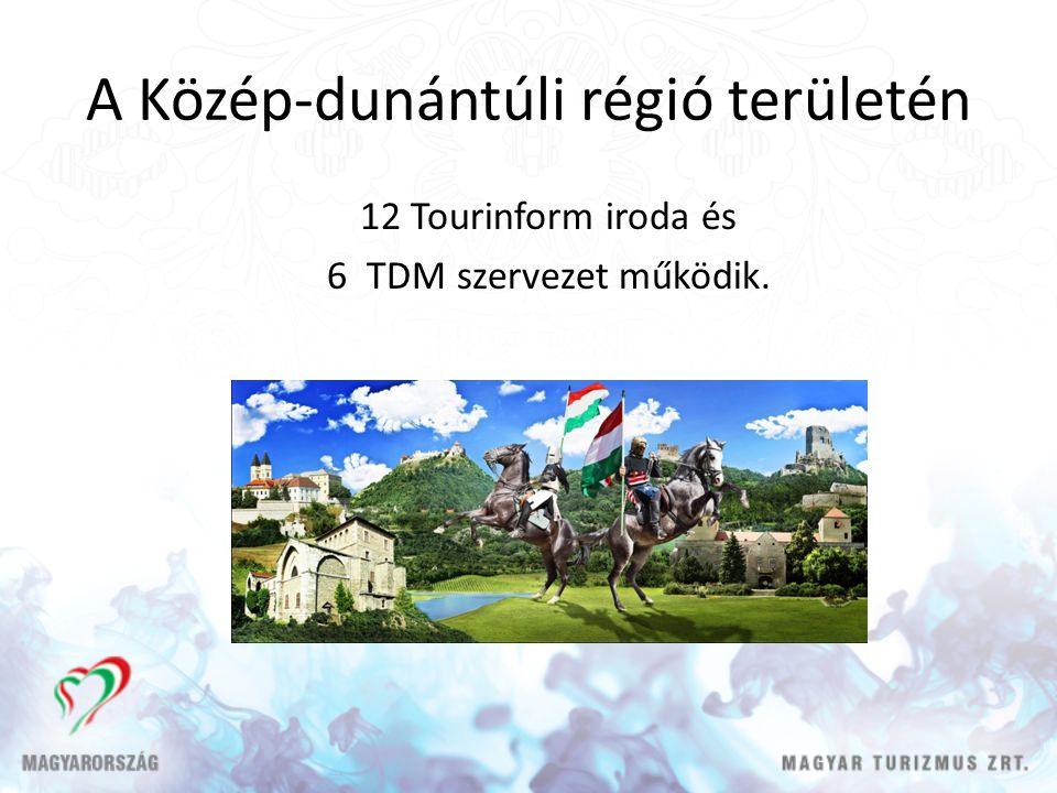 A Közép-dunántúli régió területén 12 Tourinform iroda és 6 TDM szervezet működik.