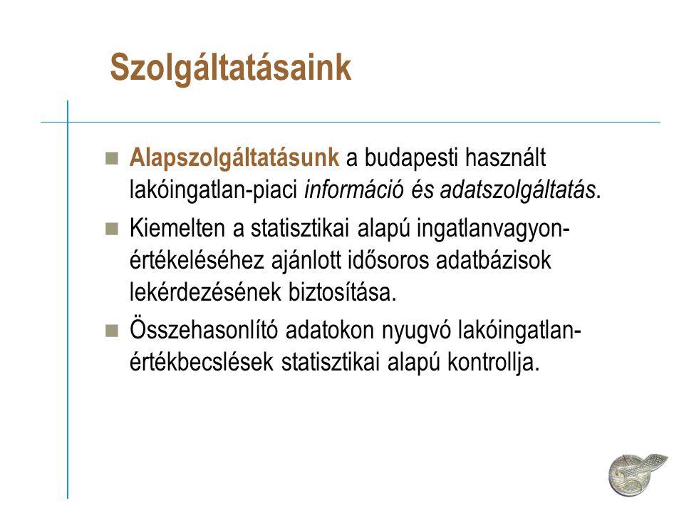 Szolgáltatásaink Alapszolgáltatásunk a budapesti használt lakóingatlan-piaci információ és adatszolgáltatás.