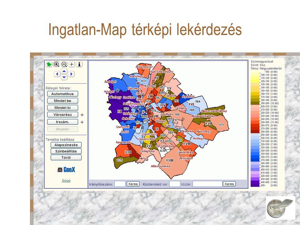 Ingatlan-Map térképi lekérdezés