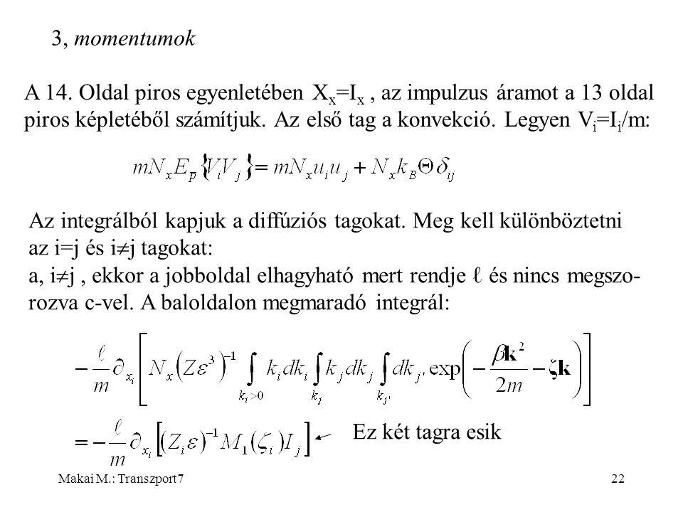 Makai M.: Transzport722  momentumok A 14.