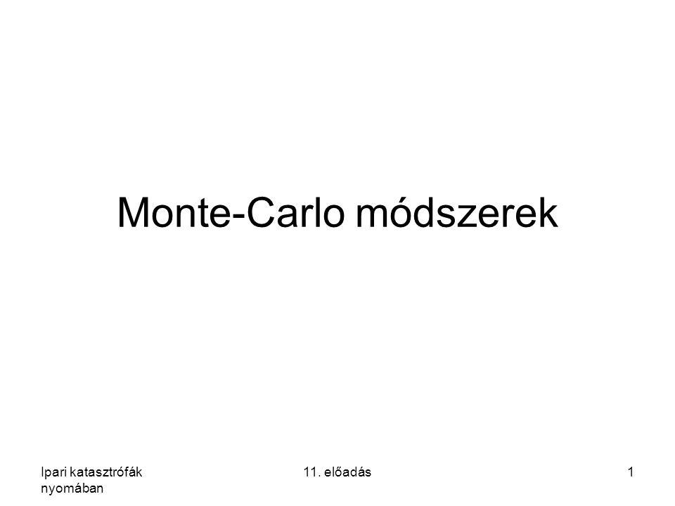 Ipari katasztrófák nyomában 11. előadás1 Monte-Carlo módszerek