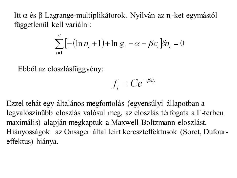 Itt  és  Lagrange-multiplikátorok.