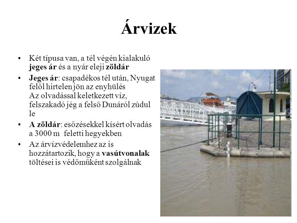 Árvizek 1744.márc.jeges árvíze: 812 cm, 50 ház pusztult el Pesten.