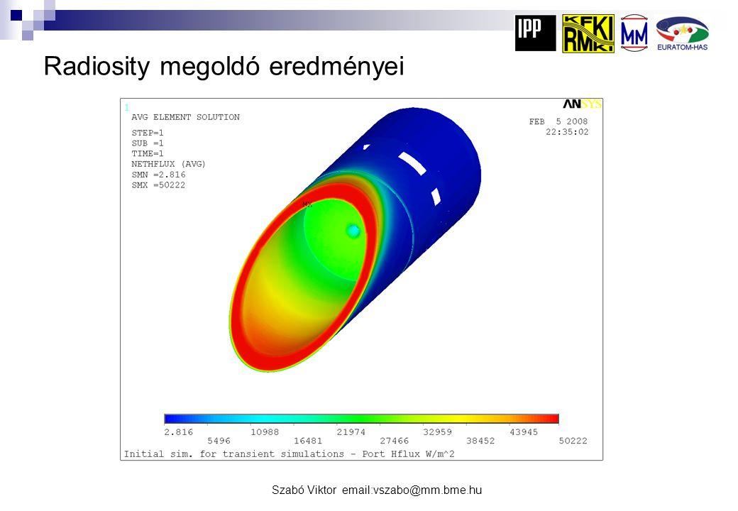 Szabó Viktor email:vszabo@mm.bme.hu Radiosity megoldó eredményei