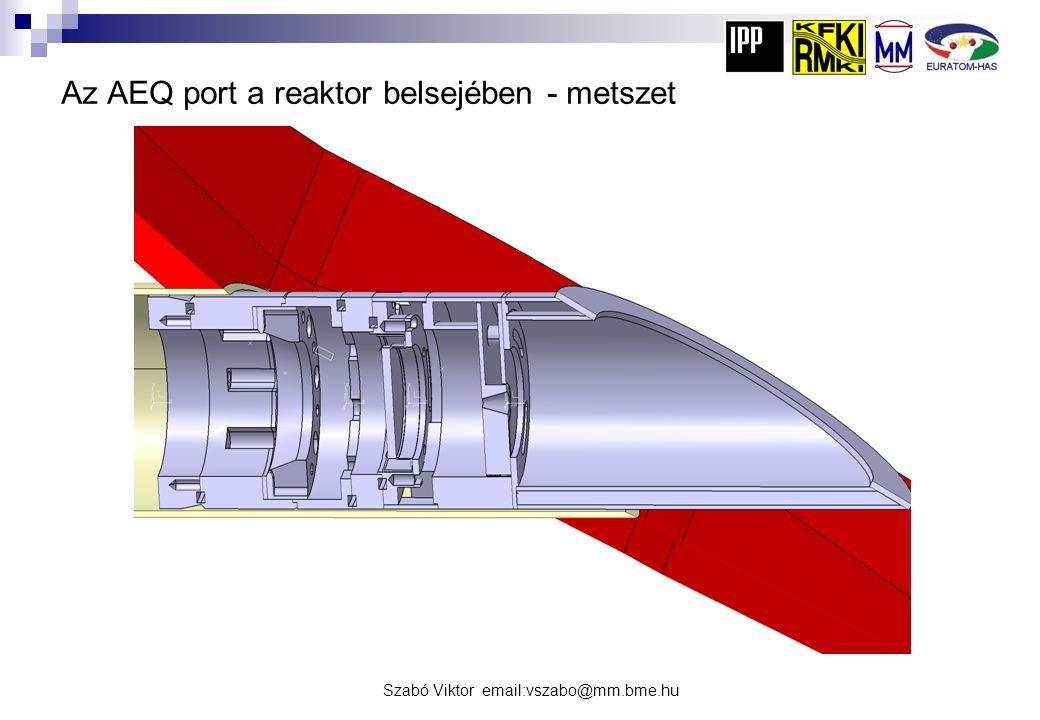 Szabó Viktor email:vszabo@mm.bme.hu Az AEQ port a reaktor belsejében - metszet