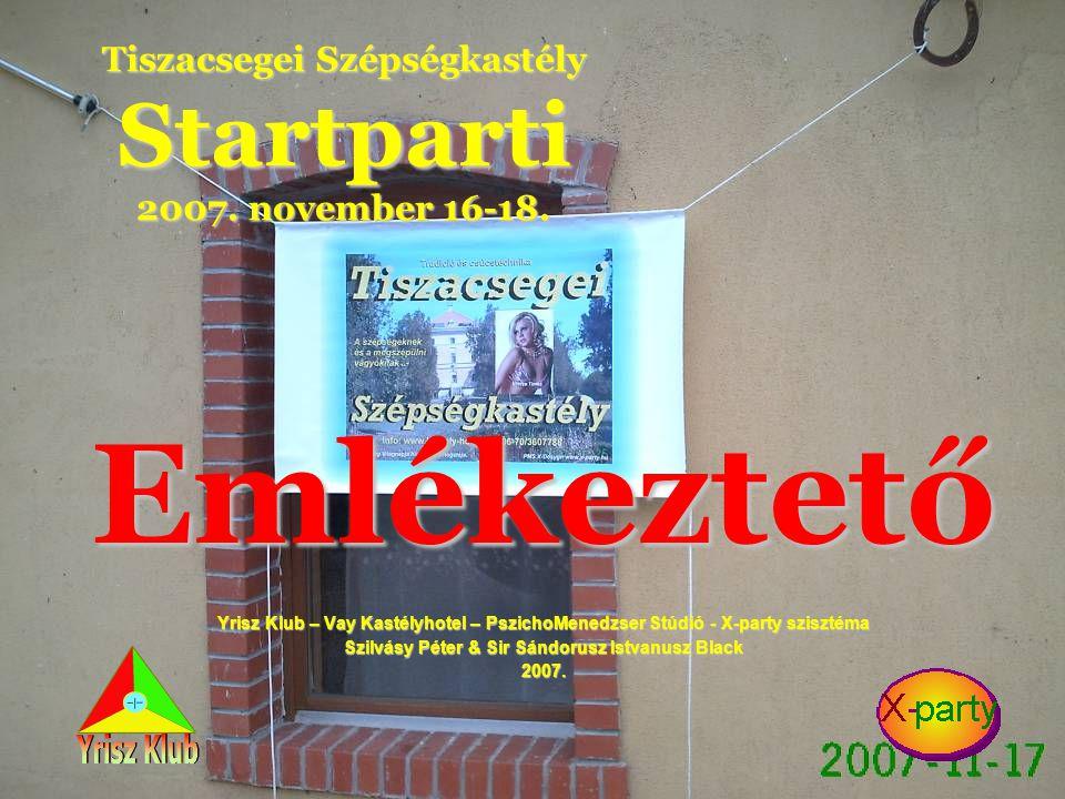 Tiszacsegei Szépségkastély Startparti 2007. november 16-18.