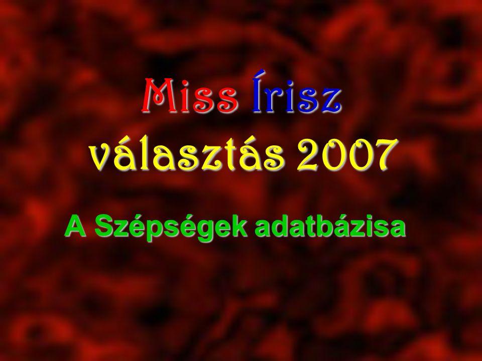 Miss Írisz választás 2007 A Szépségek adatbázisa